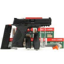 Pistolet Smith & Wesson M&P9, pack pistolet + munitions