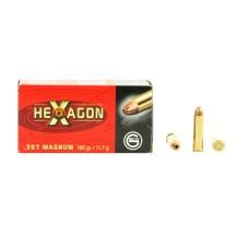 50 munitions Geco Hexagon, calibre .357 Magnum