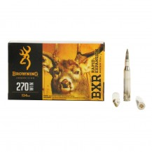 20 munitions Browning cal. 270 Win. 134 gr BXR