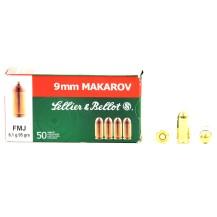 50 munitions Sellier & Bellot, calibre 9x18 Makarov