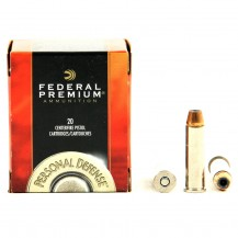20 munitions Federal Hydra-Shok calibre .357 Mag.