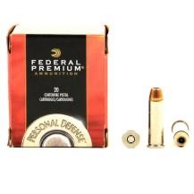 20 munitions Federal Hydra-Shok, .38 Special +P
