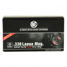 20 munitions RWS Target Elite 250 Gr, cal. 338 Lapua