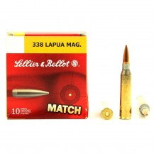 10 munitions Sellier & Bellot Match, cal. 338 Lapua Mag