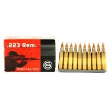 50 munitions Geco Target, calibre 223 Rem