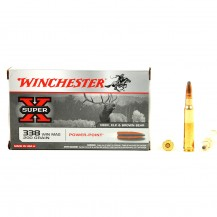 20 munitions Winchester Super X, calibre .338 Win Mag