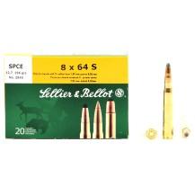 20 munitions Sellier & Bellot, calibre 8x64 S