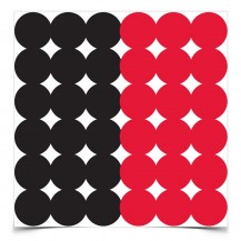 432 pastilles rouge & noir Dirty Bird Birchwood Casey