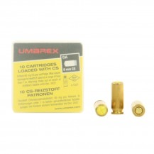 10 munitions CS Umarex cal. 8 mm PAK