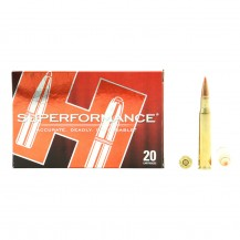 20 munitions Hornady Superformance, 180 gr .30-06 Sprg