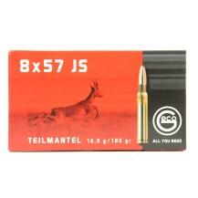 20 munitions Geco Teilmantel 185 grs, cal. 8x57 JS