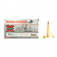 20 munitions Winchester Power-Point 300 Win Mag 150 gr