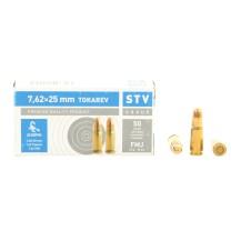 50 munitions STV Group calibre 7.62x25 85 gr FMJ