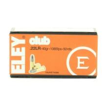50 munitions Eley Club calibre .22 LR