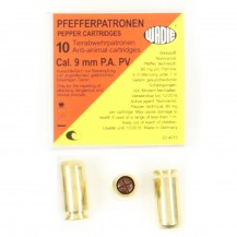 10 munitions PV Extra, calibre 9 mm P.A.