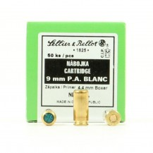 50 cartouches a blanc Sellier & Bellot , calibre 9 mm PAK