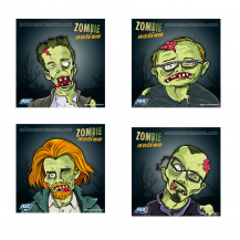 100 cibles ASG Zombie Nation 14x14 cm