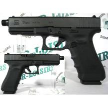Pistolet Glock 17 Gen4 fileté, calibre 9x19 mm