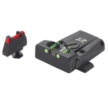Hausse réglable + guidon LPA pour Glock, fibre optique