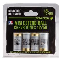 4 cartouches Concorde Defender mini defend-ball 12/50