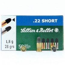 50 munitions Sellier & Bellot, calibre .22 Short