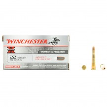 50 munitions Winchester Super-X, calibre 22 Hornet