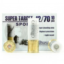 10 cartouches DDupleks Super Target, calibre 12/70