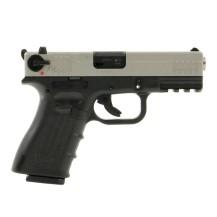 Pistolet ISSC M22 bicolore Black/Chrome, calibre .22 LR