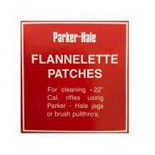 75 patchs de nettoyage en flannelle Parker Hale cal .22