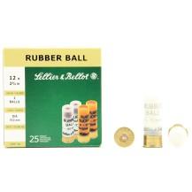 25 cartouches Sellier & Bellot Rubber 2 Balls 12/67.5