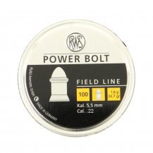 100 plombs RWS Power Bolt, calibre 5.5 mm
