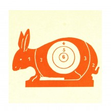 100 cibles lapin rouge 100x100 mm