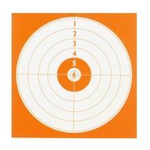 100 cibles rouge 14x14 cm