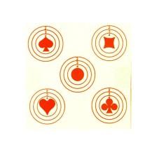 100 cibles Cinq As, dimensions 100x100 mm