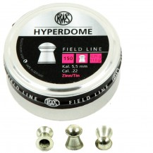 150 plombs RWS Hyperdome, calibre 5.5 mm