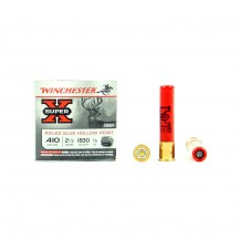 5 munitions Winchester Super X Slug, calibre .410