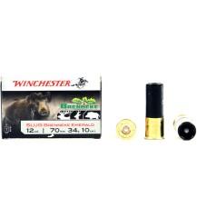 10 munitions Winchester Brenneke calibre 12/70
