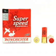 10 munitions Winchester Super Speed 40g Ni, calibre 12/70