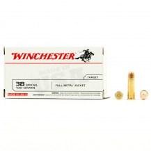 100 munitions Winchester, calibre 38 Special