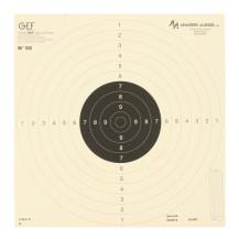 Cible C50 pour le tir à 25 / 50 m - centre noir