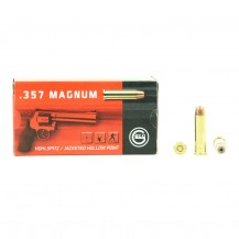 50 Munitions Geco Hollow Point, calibre 357 Magnum