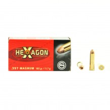50 munitions Geco Hexagon, calibre .357 Magnum