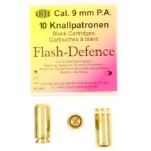 10 cartouches Flash Defence, calibre 9 mm P.A.