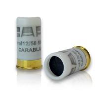 5 cartouches Carablanc, calibre 12/50