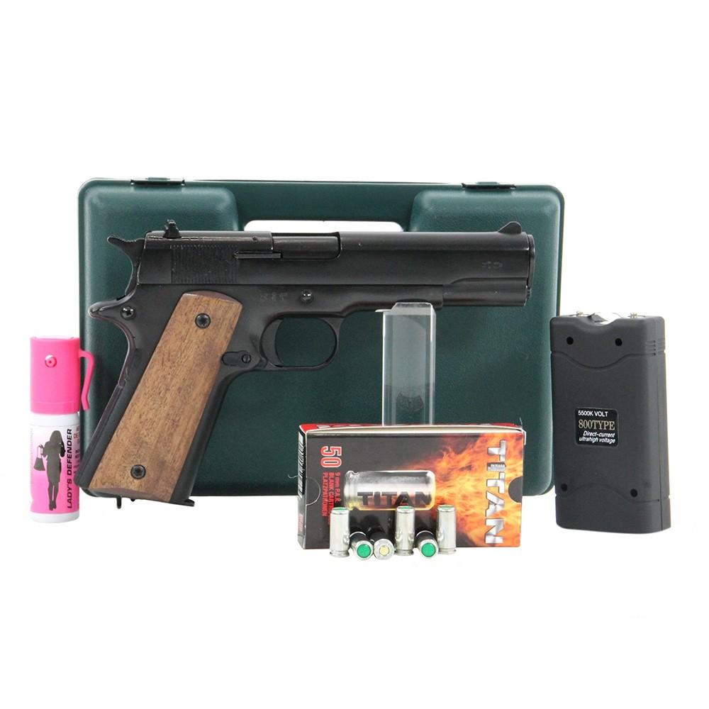 pistolet kimar 911 noir pack lectrique discount pack arme de d fense arme de d fense la. Black Bedroom Furniture Sets. Home Design Ideas