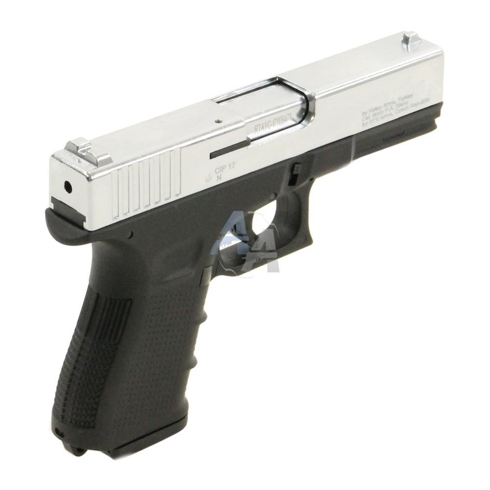 pistolet blanc retay type g17 9 mm pak finition au. Black Bedroom Furniture Sets. Home Design Ideas