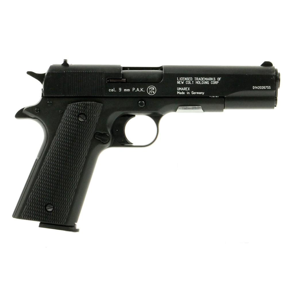 pistolet colt government 1911 noir umarex 9 mm pak pistolets blanc armes blanc arme. Black Bedroom Furniture Sets. Home Design Ideas