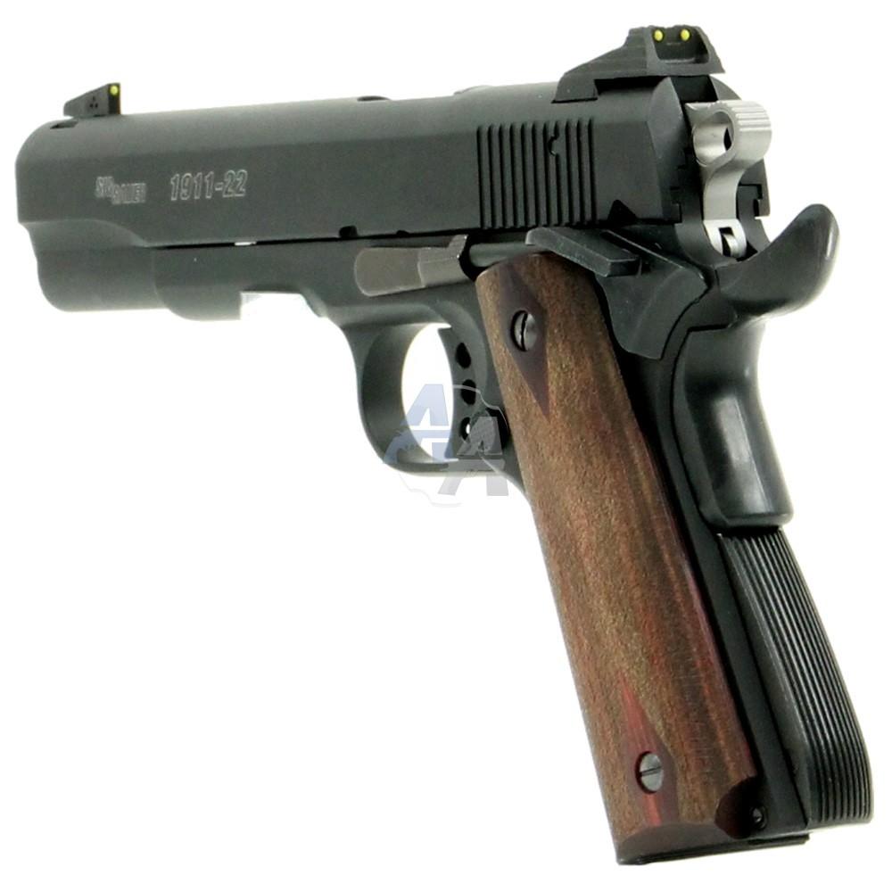 pistolet sig sauer 1911 22 noir calibre 22 lr. Black Bedroom Furniture Sets. Home Design Ideas